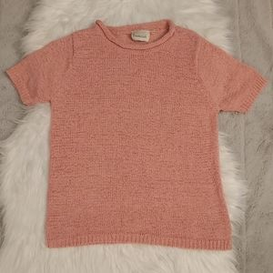 Vintage Lightweight Knitted Shortsleeve Top